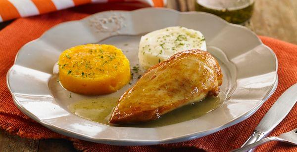 Supremas de pollo con salsa verde