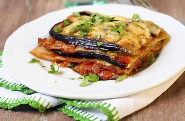 Lasagna de calabazas y berenjena