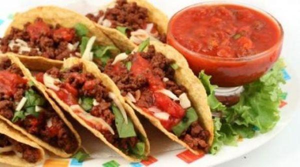 Tacos de soja con longaniza
