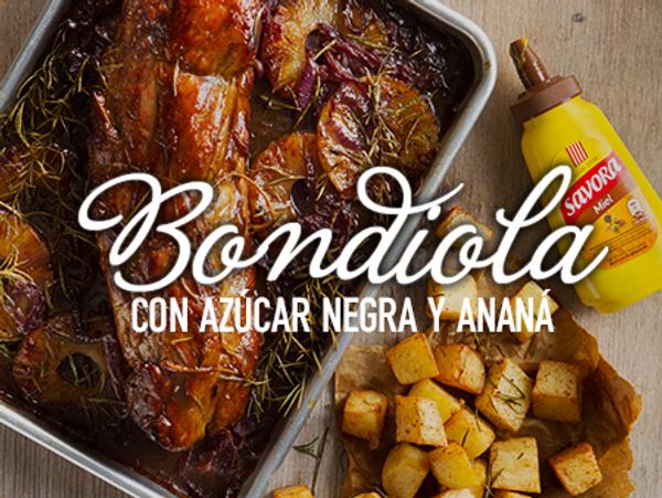 Bondiola con azúcar negra y ananá a la mostaza