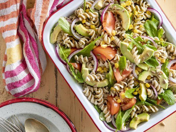 Pasta salad con mix de vegetales