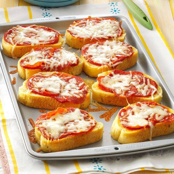 Pizzetas de tostadas