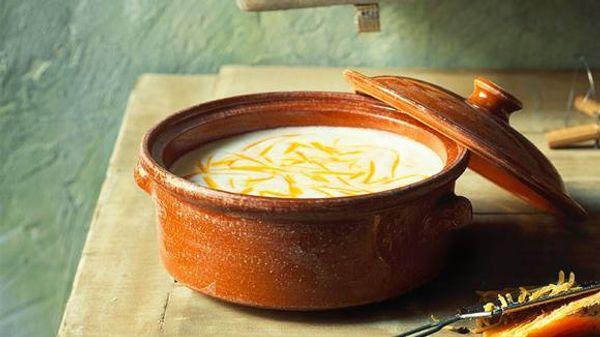 Sopa de papa y queso