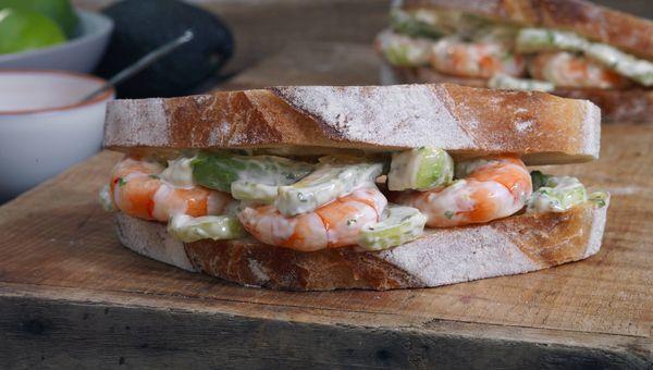 Sandwich de camarones