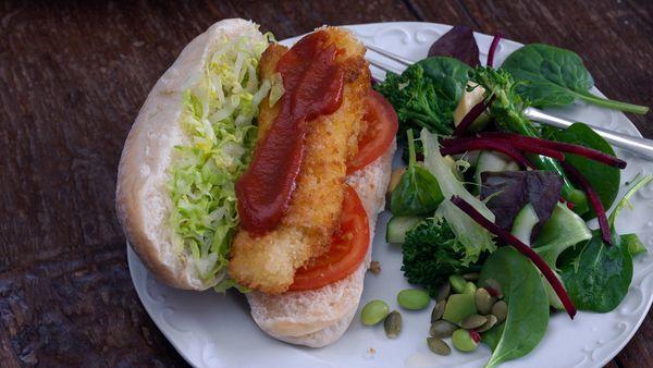 Sandwich de palitos de pescado