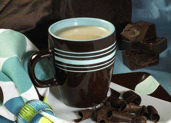 Té con chocolate caliente