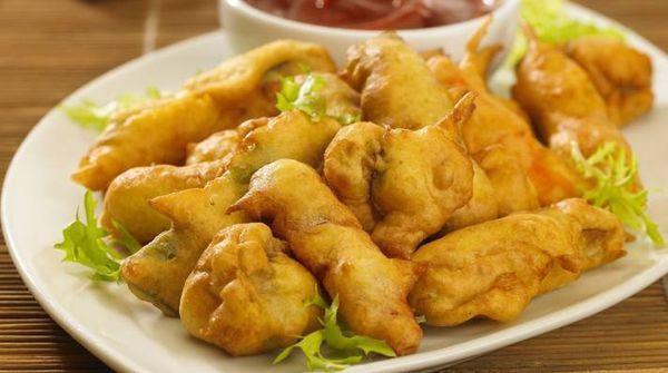 Tempura de vegetales a la mostaza
