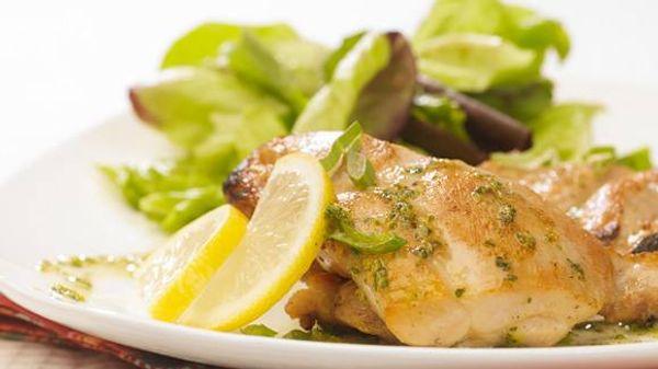Pollo a la plancha con provenzal y limón
