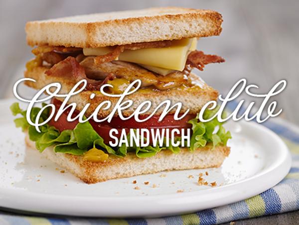 Sandwich de pollo súper completo