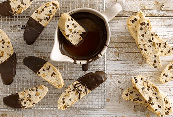 Biscotti de almendras y chips de chocolate
