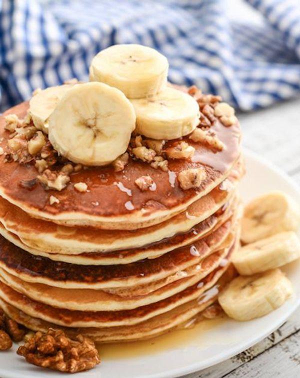 Panqueques de banana y dulce de leche