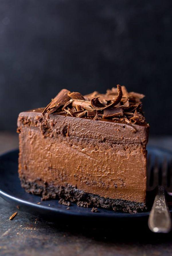 Cheesecake de chocolate