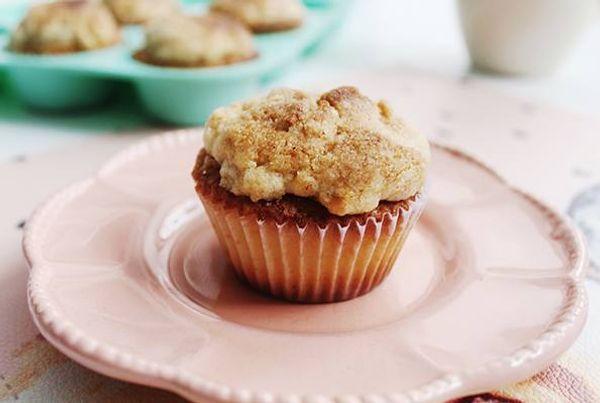 Muffins con crocante de maní