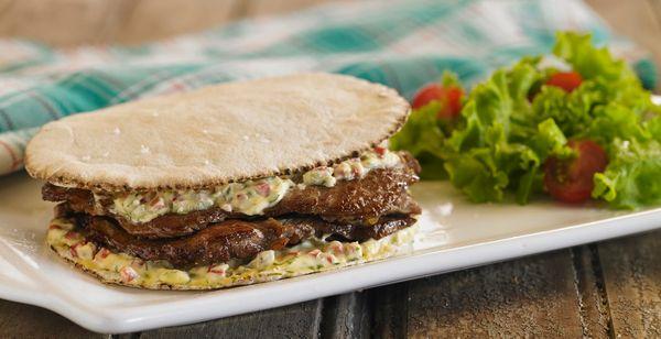 Sandwich de bife de chorizo