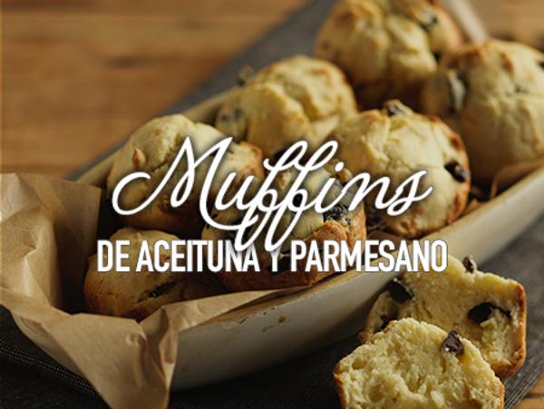 Muffins de aceituna y parmesano
