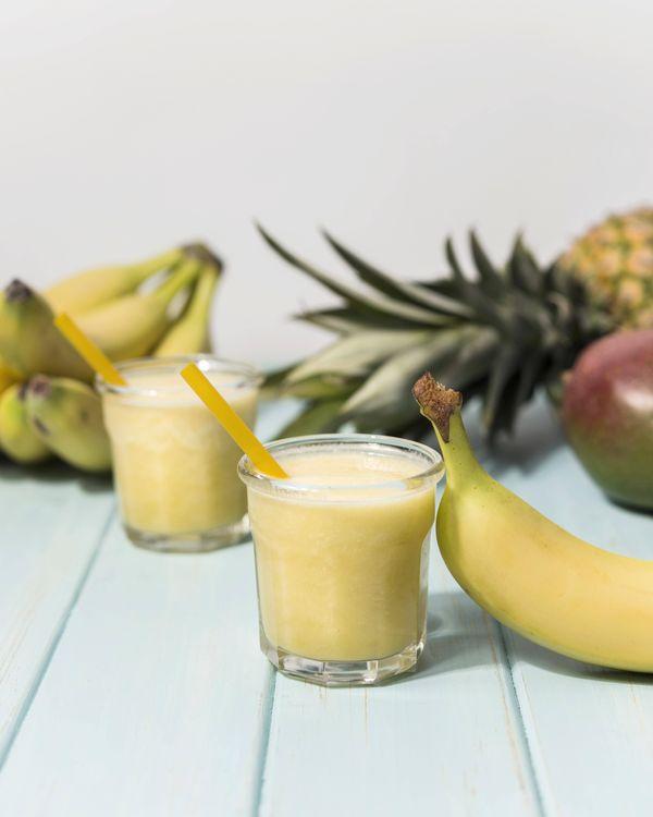 Licuado de banana con leche