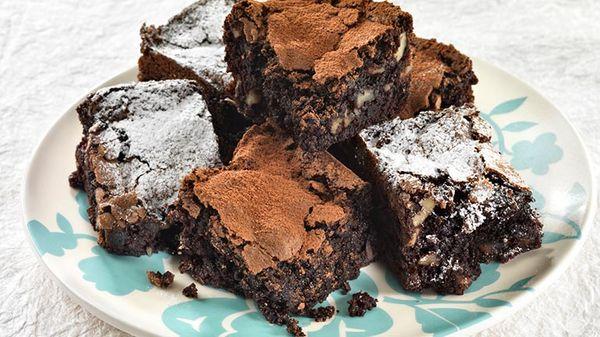 Brownies rápidos en microondas