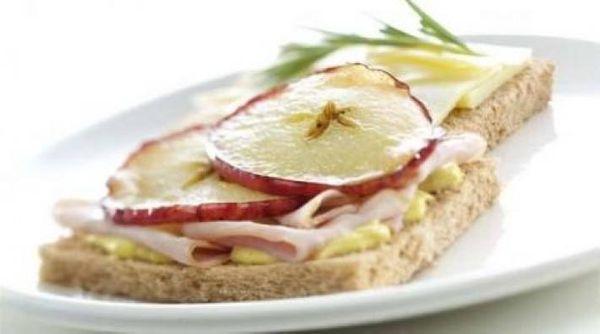 Sandwich de jamón y queso en pan pita