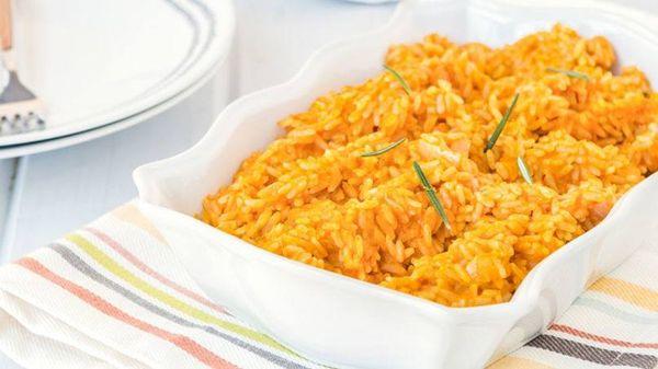 Arroz naranja o arroz con zapallo