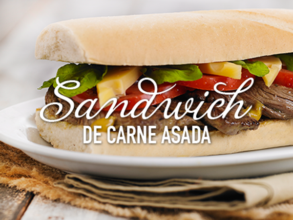 Sandwich de carne asada