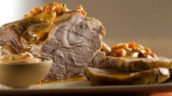 Bondiola de cerdo a la mostaza con miel