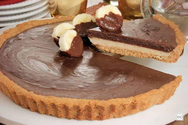 Torta de chocolate con banana