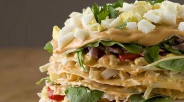 Torre fría de panqueques: receta riquísima y fácil