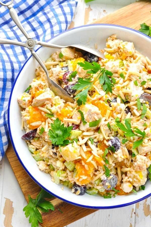Ensalada de arroz con pollo