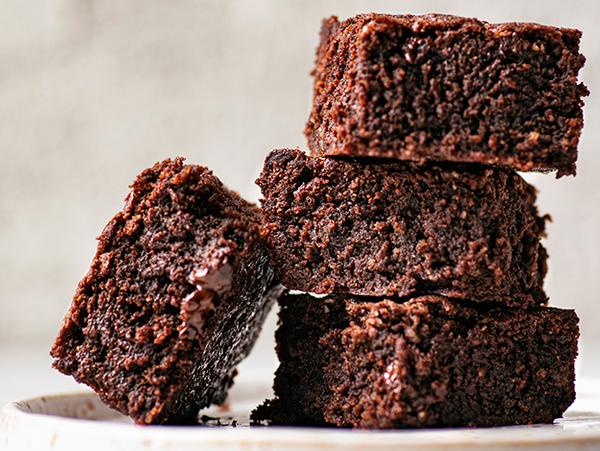 Brownies de 3 chocolates