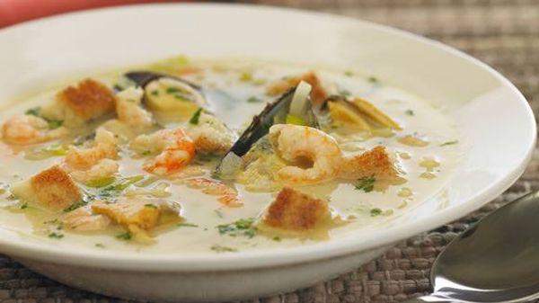 Sopa provenzal con pistou