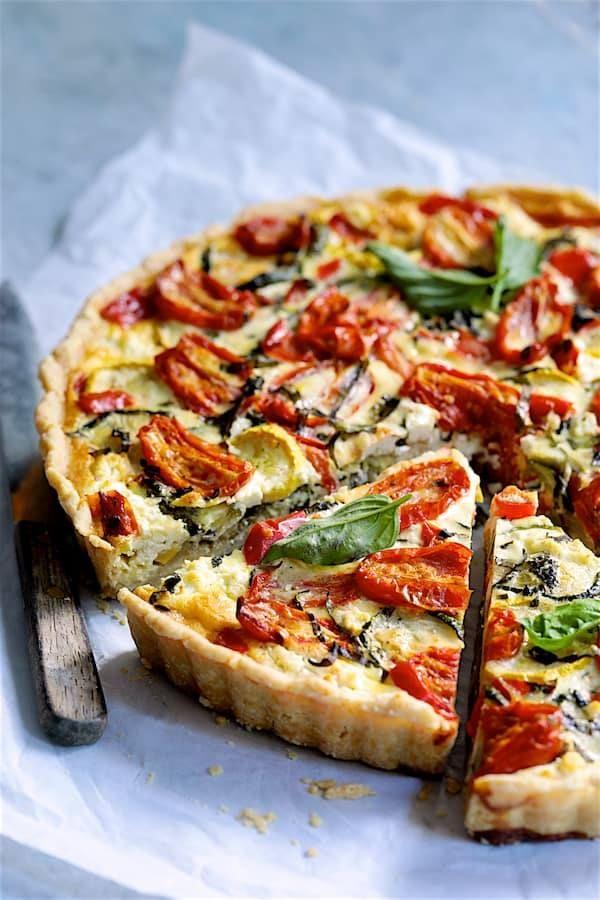 Tarta de tomate a la provenzal