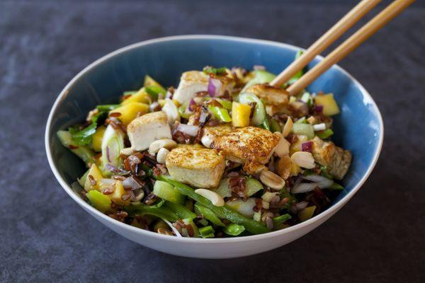 Ensalada de Tofu y Mango