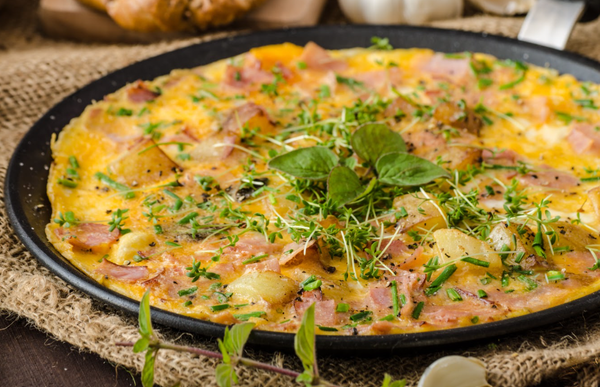 Omelette con Espinacas y Jamón