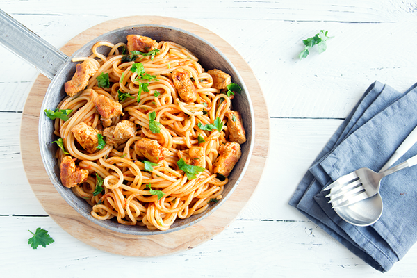 Pasta con Pollo a la Italiana