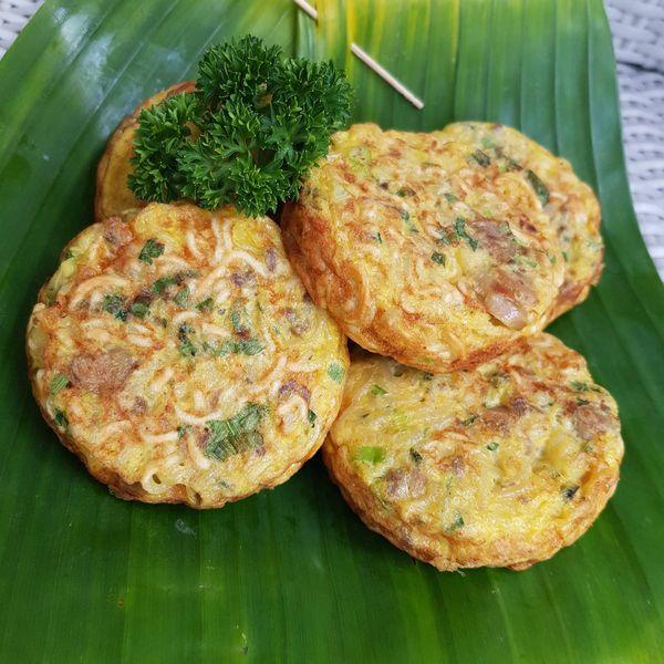 Tortitas de Fideos con Huevo