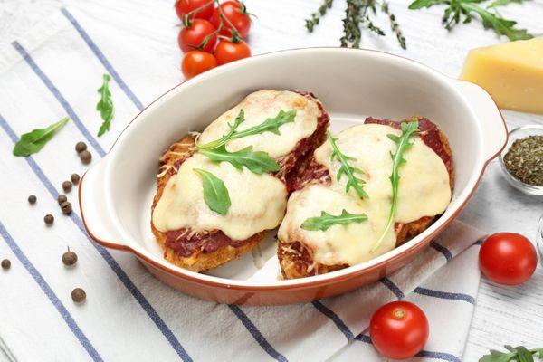 Pechugas Parmesanas