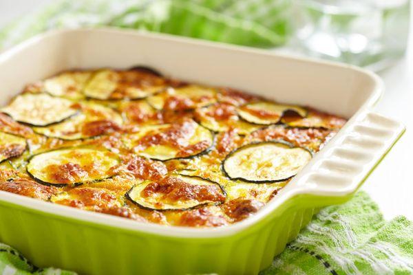 Zucchini con Huevo y Parmesano