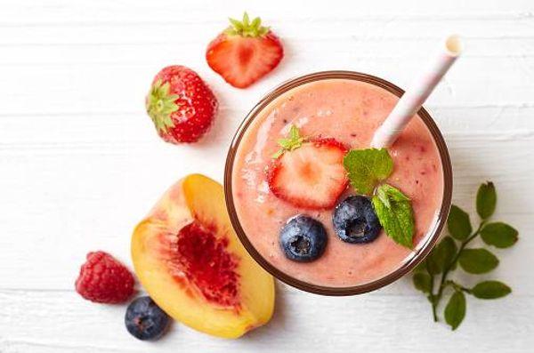 Dulce de fresa y durazno