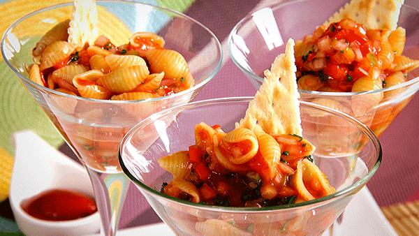 Ceviche de pasta con Salsa de Tomate Fruco