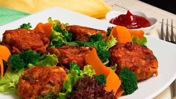 Torrejas de Verduras Fruco con Salsa de Tomate Fruco