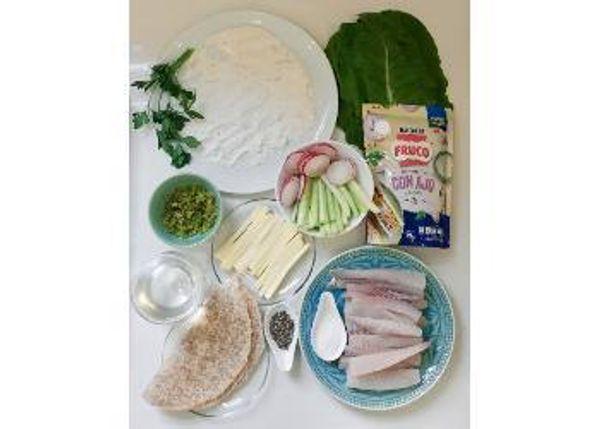 Wrap de pescado blanco tempura en salsa tártara de ajo Fruco