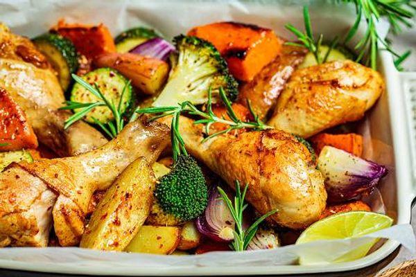 Pollo a la Jardinera con Mayo Mostaza Fruco