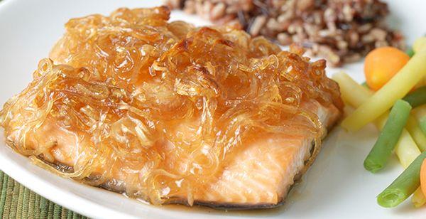 Filete de Pescado en Salsa de Manzana