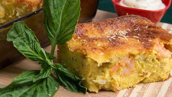 Tortas de Maíz con Camarones y Salsa Tártara Fruco
