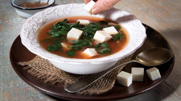 Sopa de Espinacas y Queso
