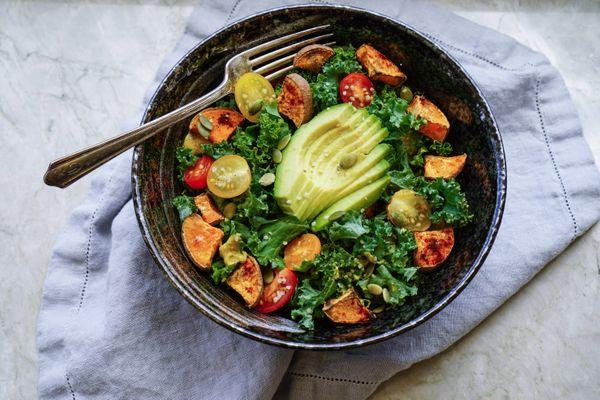 Ensalada de Kale y Camote