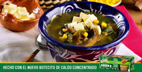 Sopa Poblana Botecito Knorr