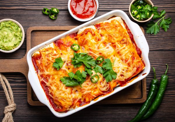 Enchiladas Rojas Suizas