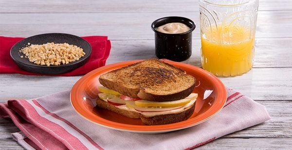 Sándwich de Queso y Manzana