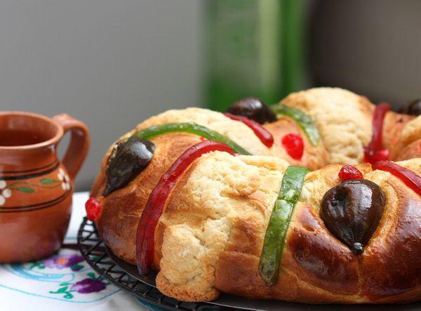 Rosca de Reyes Marmoleada (sin gluten)